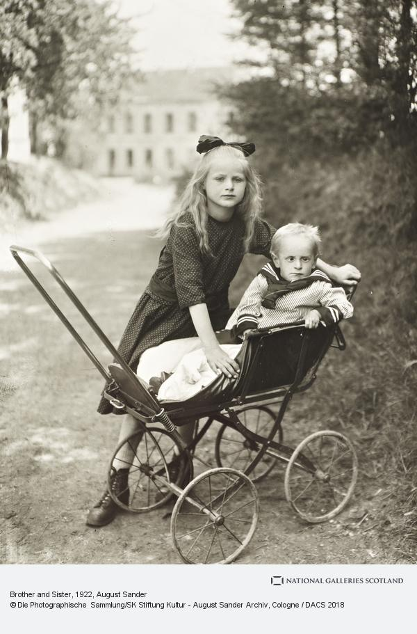 August Sander, Brother and Sister, c.1922 (about 1922)