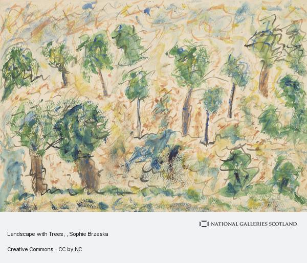 Sophie Brzeska, Landscape with Trees