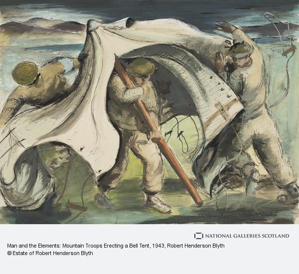 Robert Henderson Blyth, Man and the Elements: Mountain Troops Erecting a Bell Tent