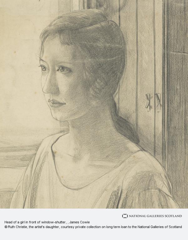 James Cowie, Head of a girl in front of window-shutter
