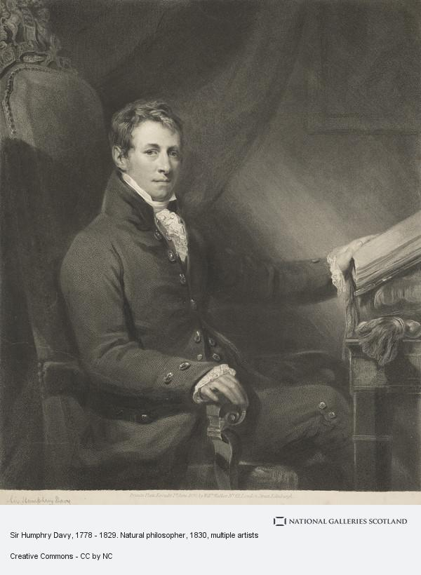 William Walker, Sir Humphrey Davy, 1778 - 1829. Natural philosopher