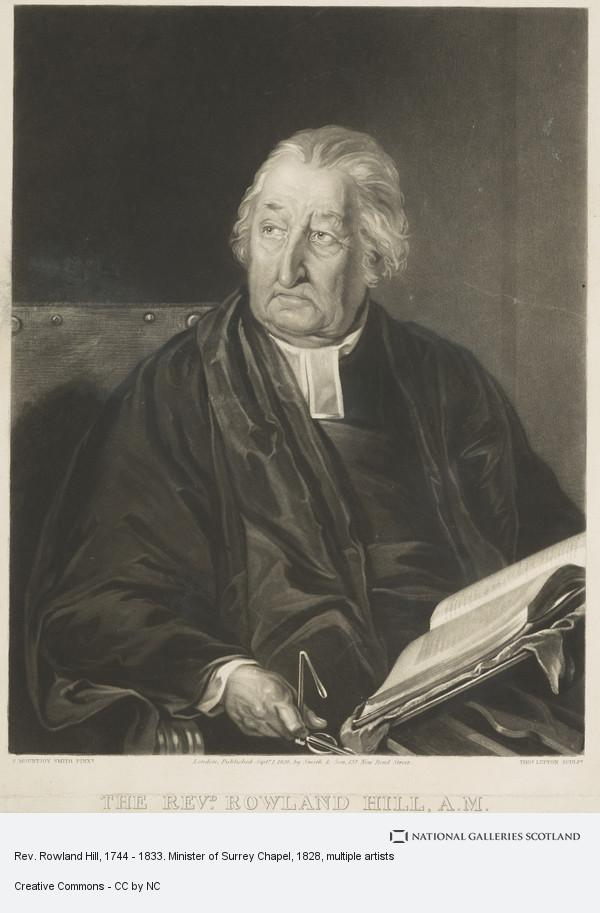 Samuel Mountjoy Smith, Rev. Rowland Hill, 1744 - 1833. Minister of Surrey Chapel