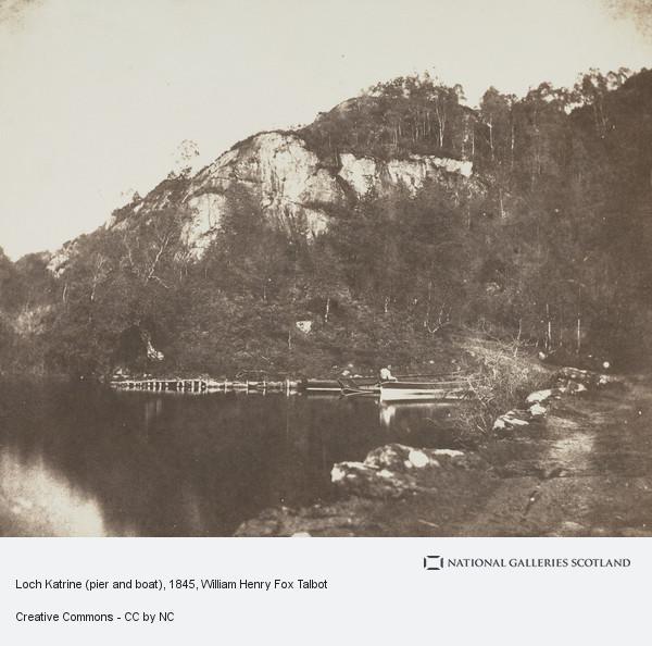 William Henry Fox Talbot, Loch Katrine (pier and boat)