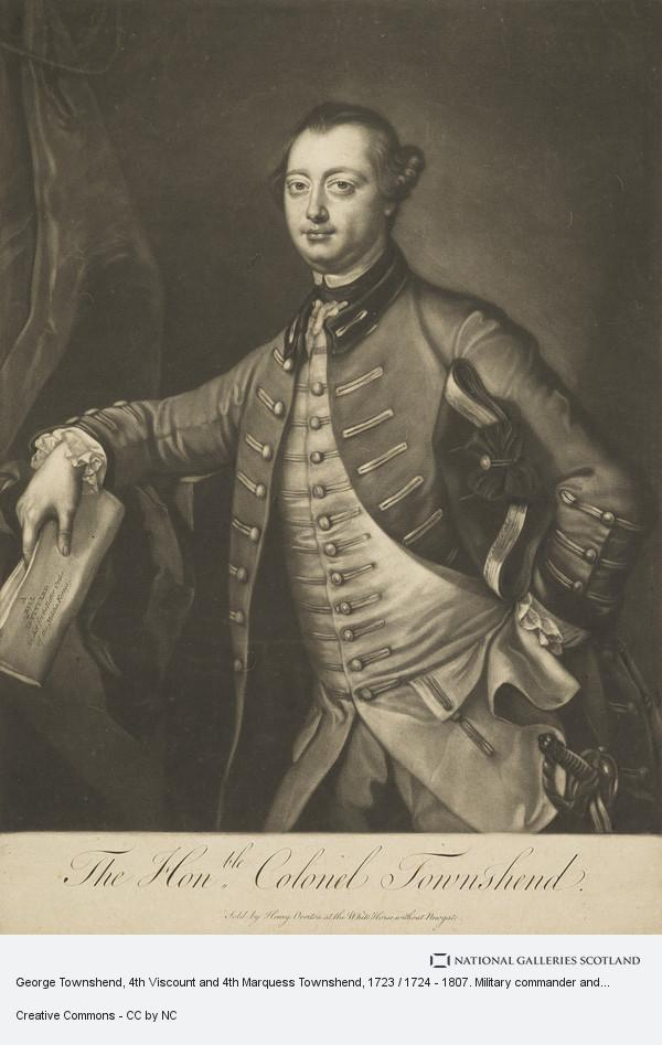 James McArdell, George Townshend, 4th Viscount and 4th Marquess Townshend, 1723 / 1724 - 1807. Military commander and artist