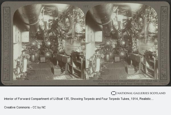 Realistic Travels - Publishers, Interior of Forward Compartment of U-Boat 135, Showing Torpedo and Four Torpedo Tubes