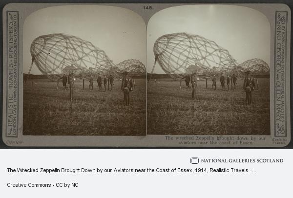 Realistic Travels - Publishers, The Wrecked Zeppelin Brought Down by our Aviators near the Coast of Essex