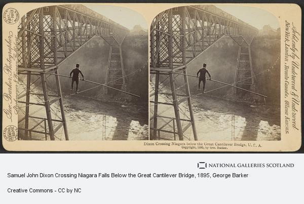 George Barker, Samuel John Dixon Crossing Niagara Falls Below the Great Cantilever Bridge