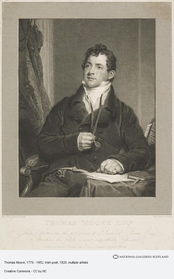John Burnet, Thomas Moore, 1779 - 1852. Irish poet