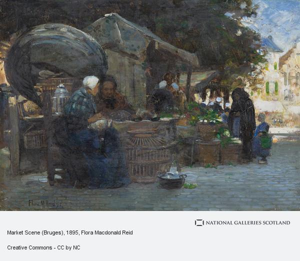 Flora Macdonald Reid, Market Scene (Bruges)