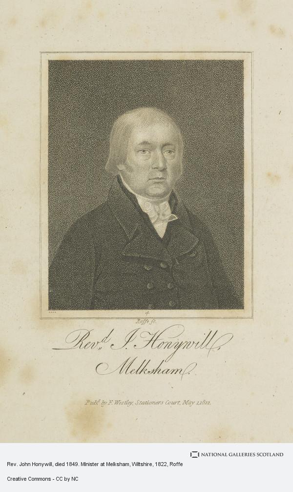 Roffe, Rev. John Honywill, died 1849. MInister at Melksham, Wiltshire