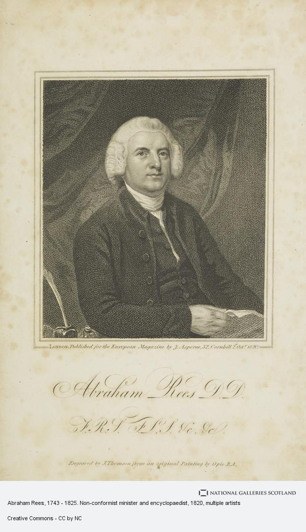 J. Thompson, Abraham Rees, 1743 - 1825. Non-conformist minister and encyclopaedist