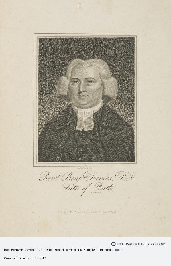 Richard Cooper, Rev. Benjamin Davies, 1739 - 1819. Dissenting minister at Bath