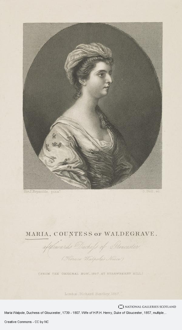 Stanley Bell, Maria Walpole, Duchess of Gloucester, 1739 - 1807. Wife of H.R.H. Henry, Duke of Gloucester