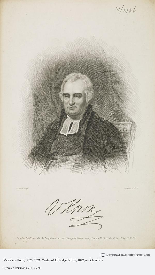 Thomson, Vicesimus Knox, 1752 - 1821. Master of Tonbridge School