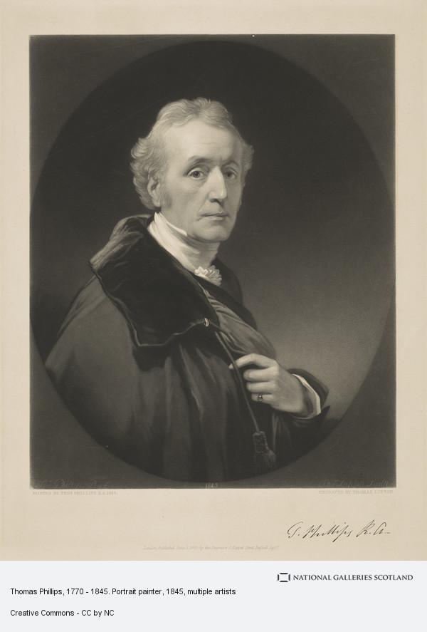 Thomas Phillips, Thomas Phillips, 1770 - 1845. Portrait painter