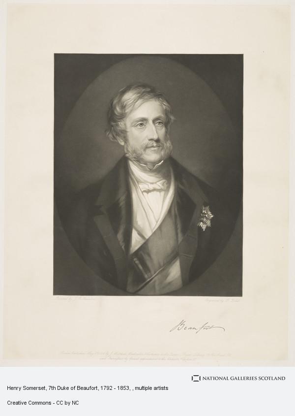 George J. Zobel, Henry Somerset, 7th Duke of Beaufort, 1792 - 1853