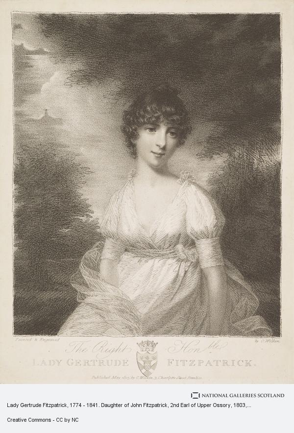 Charles Wilkin, Lady Gertrude Fitzpatrick, d. 1841. Daughter of John, 2nd Earl of Upper Ossory