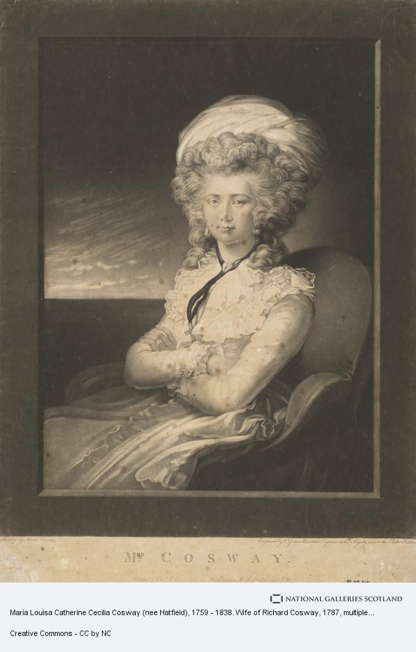 Valentine Green, Maria Louisa Catherine Cecilia Cosway (nee Hatfield), 1759 - 1838. Wife of Richard Cosway