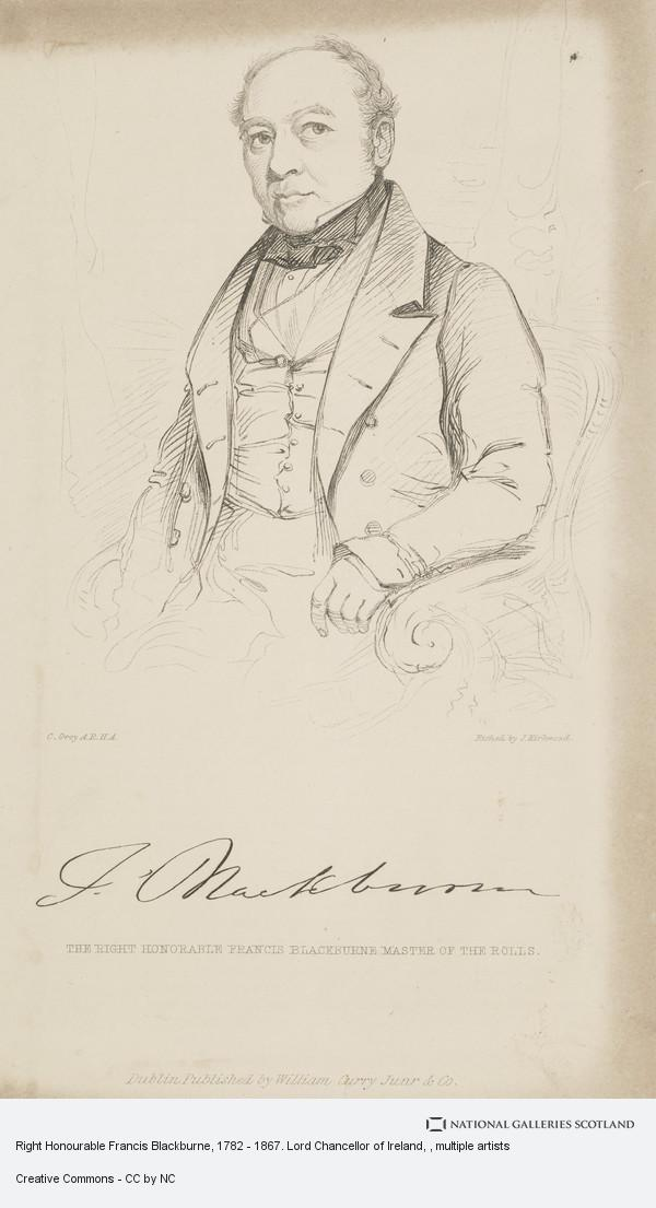 John Kirkwood, Right Honourable Francis Blackburne, 1782 - 1867. Lord Chancellor of Ireland