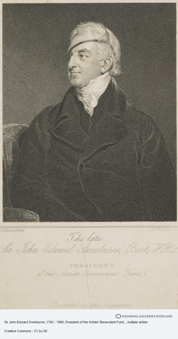 Charles Edward Wagstaff, Sir John Edward Swinburne, 1762 - 1860. President of the Artists' Benevolent Fund