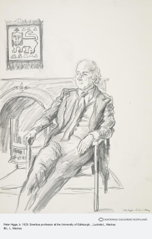 Lady Lucinda L. Mackay, Peter Higgs, b. 1929. Emeritus professor at the University of Edinburgh