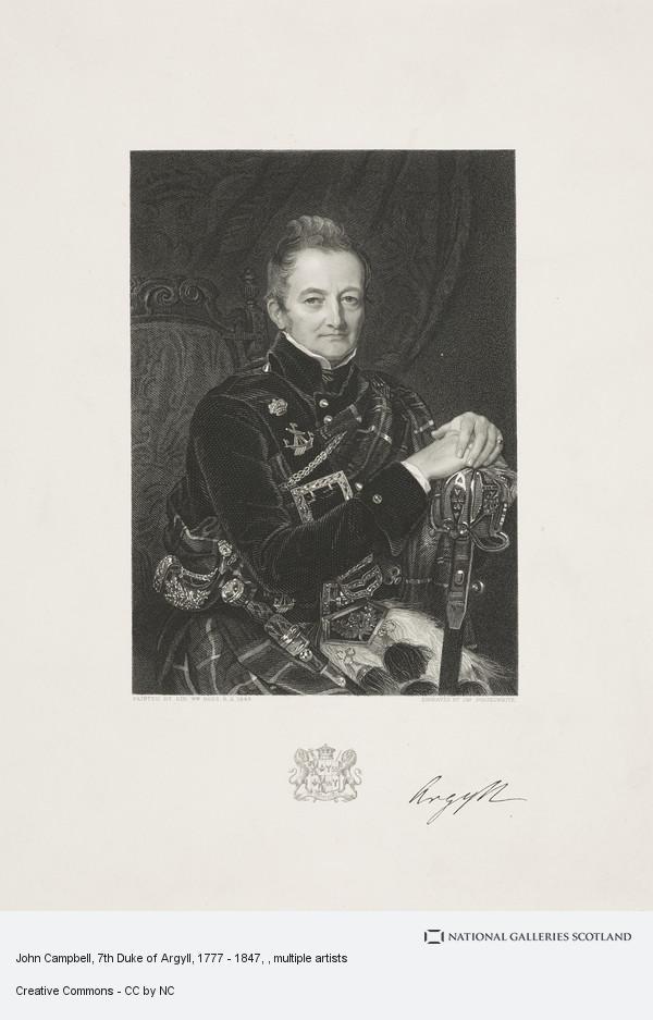 James Posselwhite, John Campbell, 7th Duke of Argyll, 1777 - 1847
