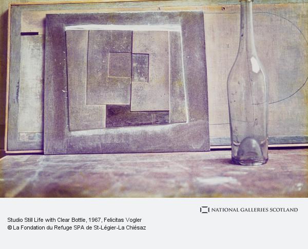 Felicitas Vogler, Studio Still Life with Clear Bottle
