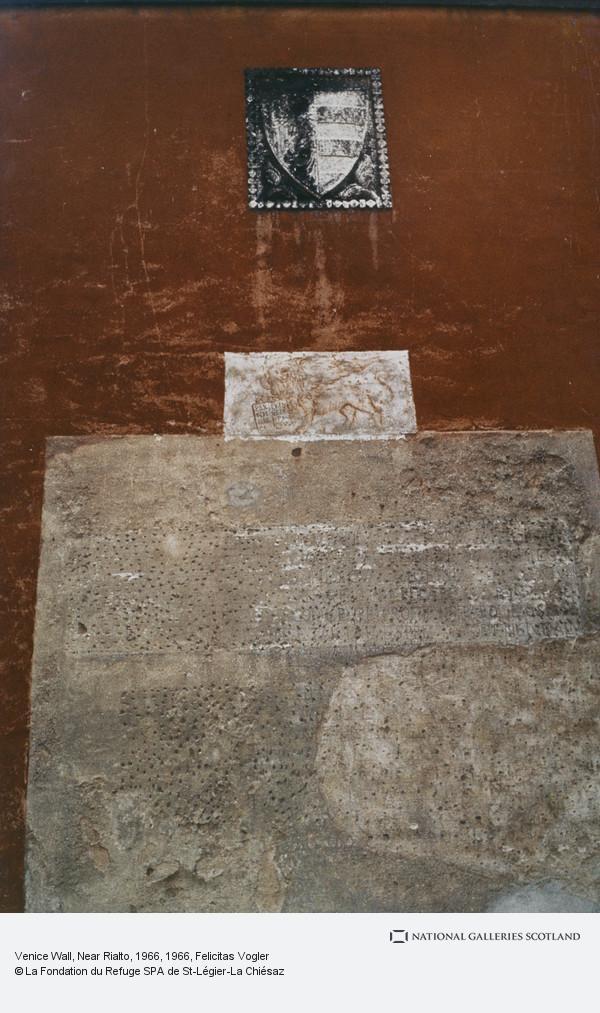 Felicitas Vogler, Venice Wall, Near Rialto, 1966