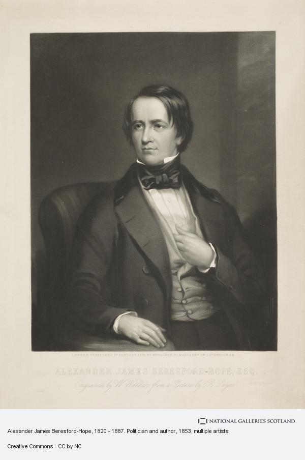 William Walker, Alexander James Beresford-Hope, 1820 - 1887. Politician and author