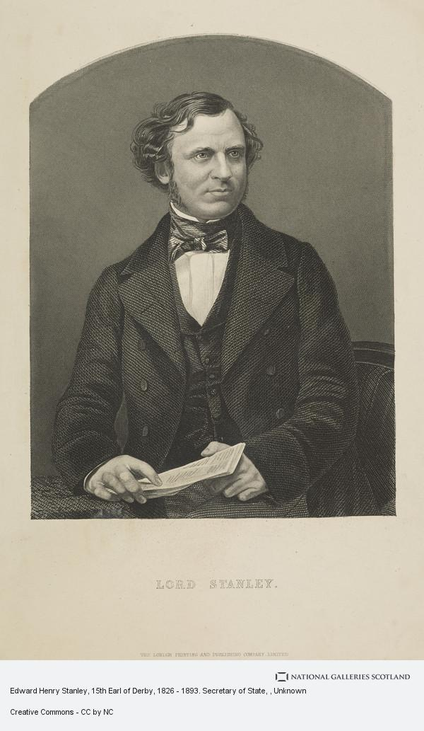 Unknown, Edward Henry Stanley, 15th Earl of Derby, 1826 - 1893. Secretary of State