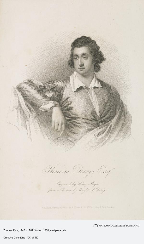 Henry Meyer, Thomas Day, 1748 - 1789. Writer