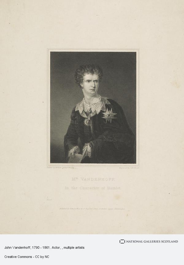 William Smellie Watson, John Vandenhoff, 1790 - 1861. Actor