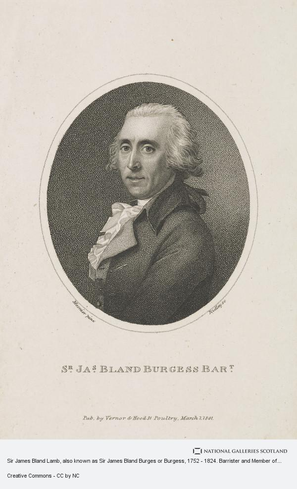 Jean Laurent Mosnier, Sir James Bland Lamb, also known as Sir James Bland Burges or Burgess, 1752 - 1824. Barrister and Member of Parliament