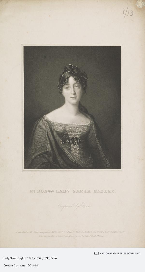 Dean, Lady Sarah Bayley, 1779 - 1852.