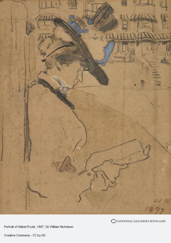 Sir William Nicholson, Portrait of Mabel Pryde