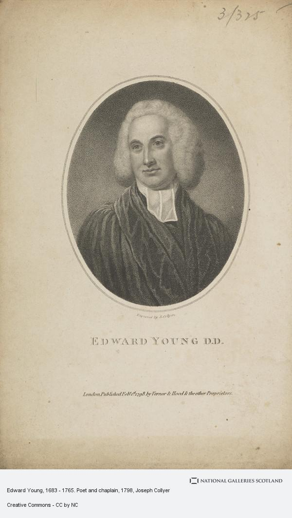 Joseph Collyer, Edward Young, 1683 - 1765. Poet and chaplain