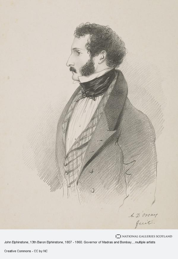 Alfred, Count D'Orsay, John Elphinstone, 13th Baron Elphinstone, 1807 - 1860. Governor of Madras and Bombay
