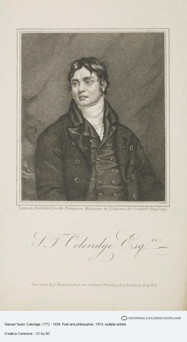 James Thomson, Samuel Taylor Coleridge, 1772 - 1834. Poet and philosopher