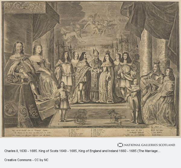 Hugo Allard the Elder, Charles II, 1630 - 1685. King of Scots 1649 - 1685, King of England and Ireland 1660 - 1685 (The Marriage of Charles II to Catherine of Braganza)