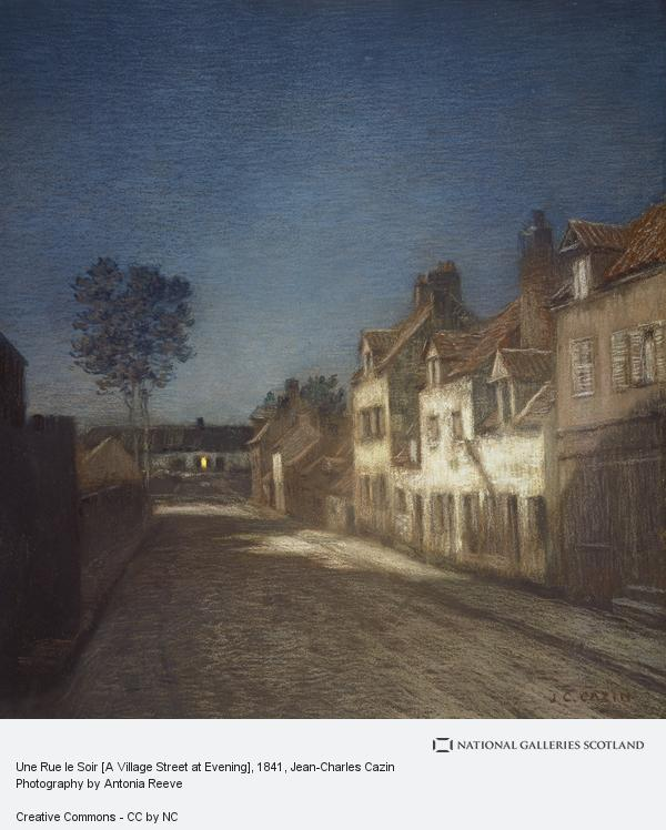 Jean-Charles Cazin, Une Rue le Soir [A Village Street at Evening]