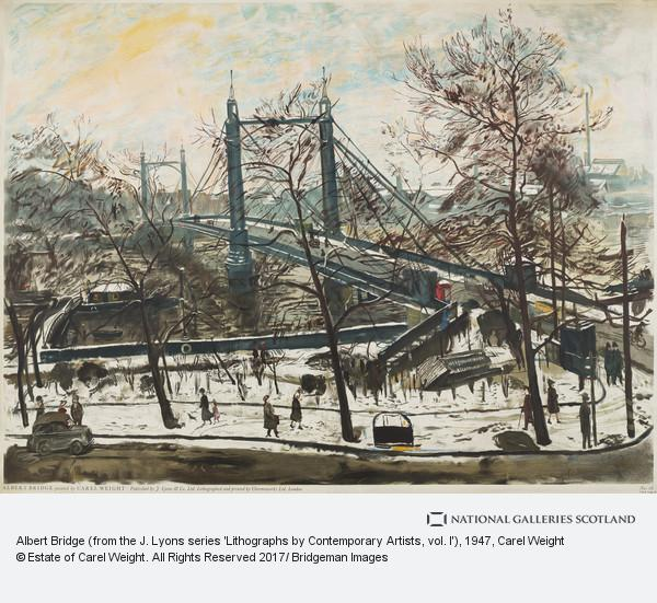 Carel Weight, Albert Bridge (from the J. Lyons series 'Lithographs by Contemporary Artists, vol. I')