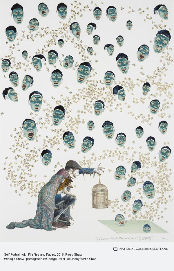 Raqib Shaw, Self Portrait with Fireflies and Faces
