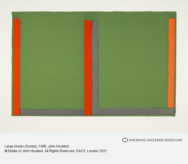 John Hoyland, Large Green (Swiss)