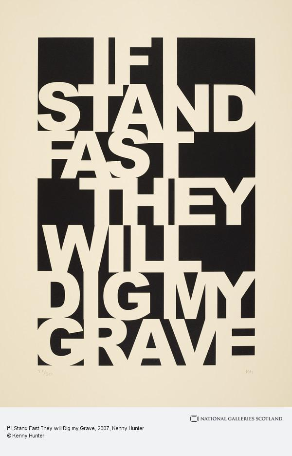 Kenny Hunter, If I Stand Fast They will Dig my Grave