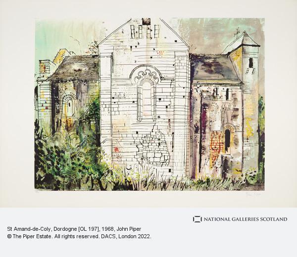 John Piper, St Amand-de-Coly, Dordogne [OL 197]