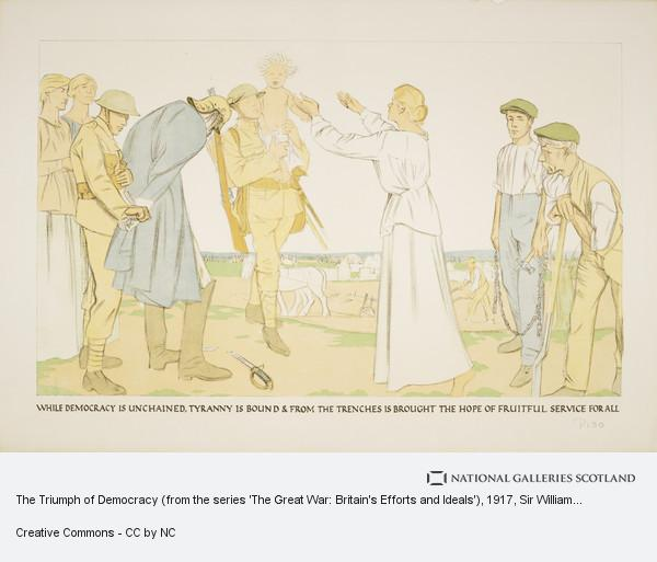 Sir William Rothenstein, The Triumph of Democracy (from the series 'The Great War: Britain's Efforts and Ideals')