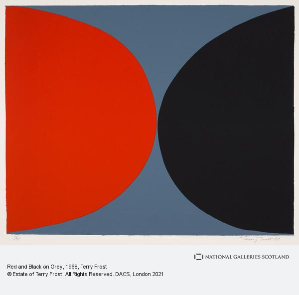 Terry Frost, Red and Black on Grey