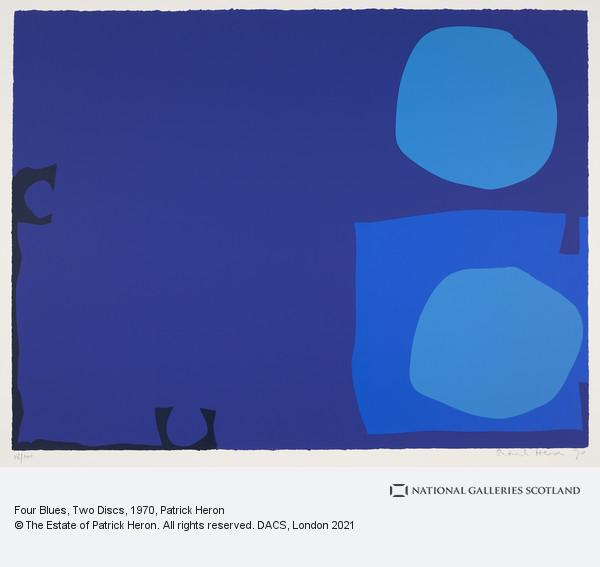 Patrick Heron, Four Blues, Two Discs
