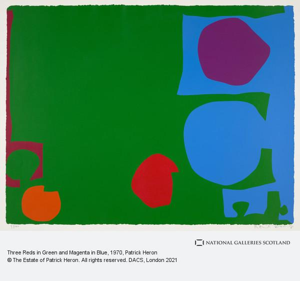 Patrick Heron, Three Reds in Green and Magenta in Blue