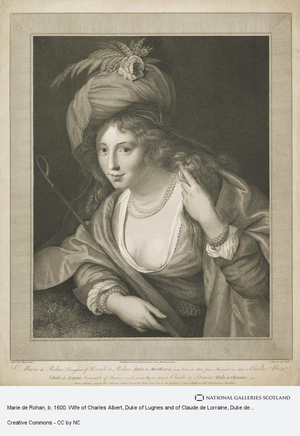 James Stow, Marie de Rohan, b. 1600. Wife of Charles Albert, Duke of Lugnes and of Claude de Lorraine, Duke de Chevreuse